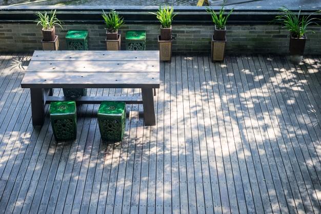 helt egen terrasse
