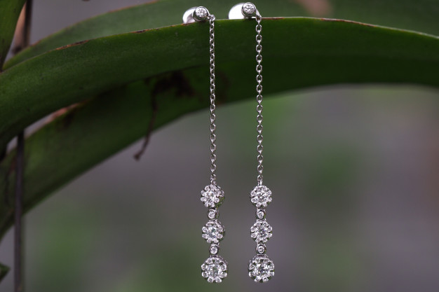 diamant marguerit øreringe