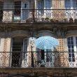 parasol på altan