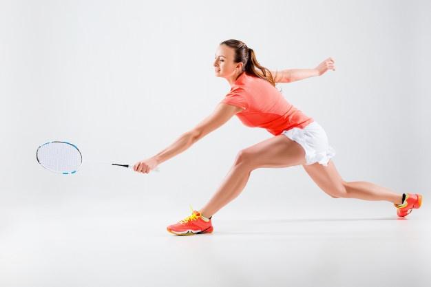 røde badmintonsko